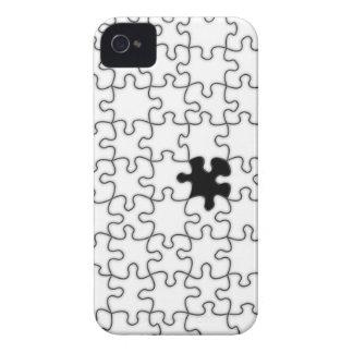 El modelo que falta del pedazo del rompecabezas iPhone 4 Case-Mate coberturas