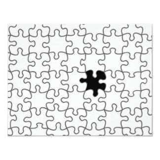 """El modelo que falta del pedazo del rompecabezas invitación 4.25"""" x 5.5"""""""