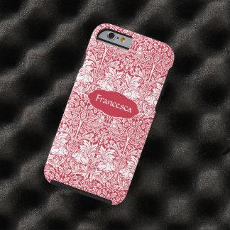 El modelo rojo Morris del conejo personalizó el Funda De iPhone 6 Tough