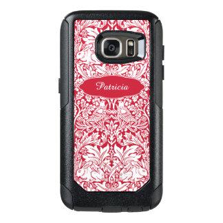 El modelo rojo Morris del conejo personalizó el Funda Otterbox Para Samsung Galaxy S7