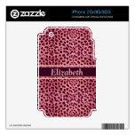 El modelo rosado de la piel del leopardo calcomanía para el iPhone 3G