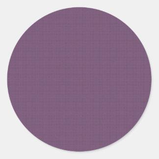 El modelo texturizado púrpura DIY crea su propio Pegatina Redonda