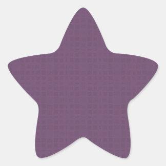 El modelo texturizado púrpura DIY crea su propio Pegatina En Forma De Estrella