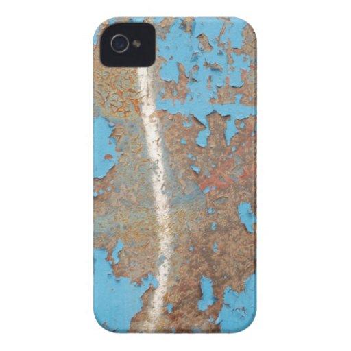 El MOHO AZUL Corroded-metal1617 TEXTURIZA los META iPhone 4 Case-Mate Cobertura
