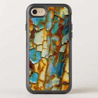 El moho azul oxidado corroído del oro crea sus los funda OtterBox symmetry para iPhone 7
