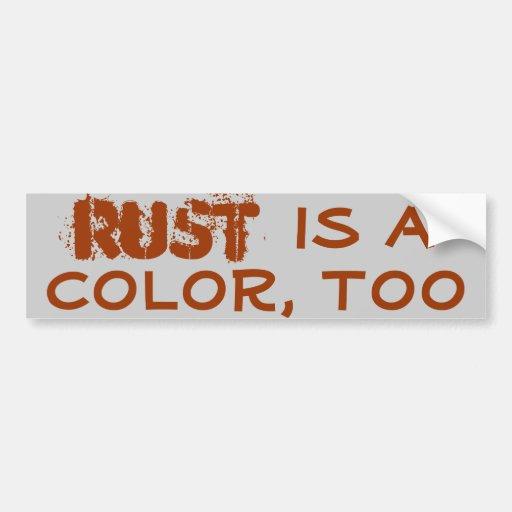 El moho es un color, también etiqueta de parachoque