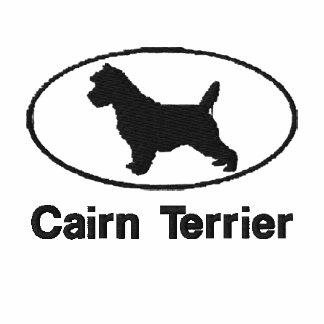 El mojón Terrier oval bordó la camisa (la camiseta
