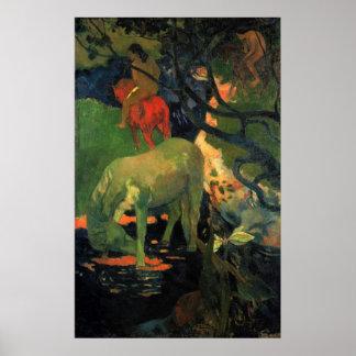 El molde de Eugène Enrique Paul Gauguin Poster