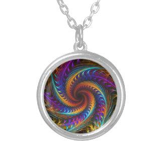 El molinillo de viento soña - arte espiral abstr collar personalizado