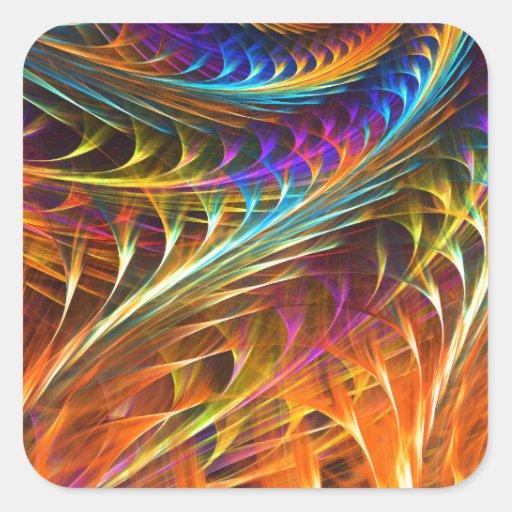 """El """"molinillo de viento soña"""" - arte espiral calcomanía cuadradase"""