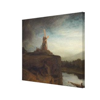 El molino, 1645 - 48 (aceite en lona) lienzo envuelto para galerías