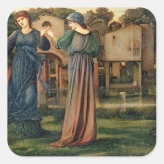 El molino, 1872-80 pegatina cuadrada