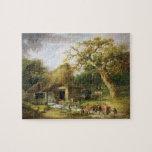 El molino de agua viejo, 1790 (aceite en lona) puzzle
