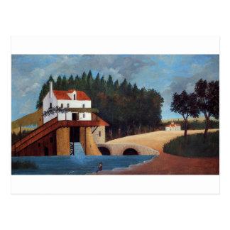 El molino de Henri Rousseau Postal