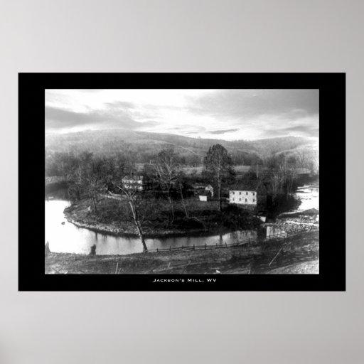 El molino de Jackson, Virginia Occidental Impresiones