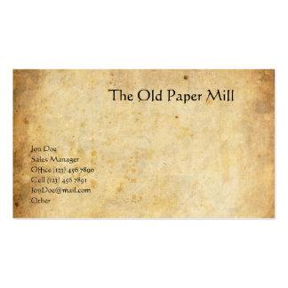 El molino de papel viejo plantillas de tarjetas personales