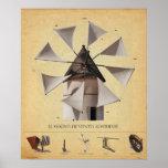El molino de viento almeriense (vintage) impresiones