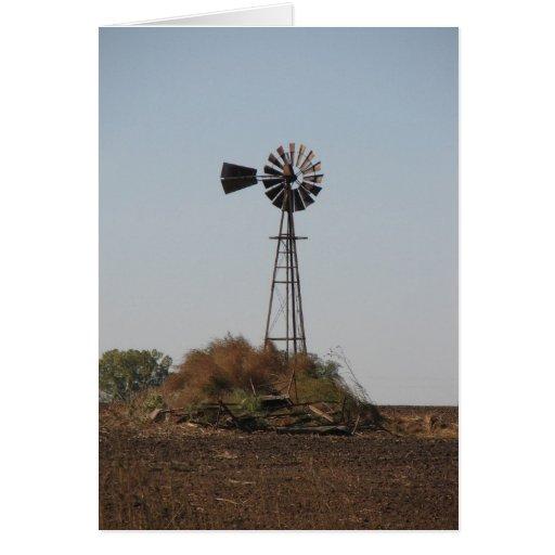 El molino de viento tarjeta