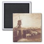 El molino de viento y la cerradura, grabados por G Imán Cuadrado