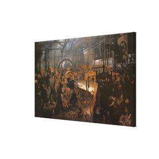El molino del Hierro-Balanceo, 1875 Impresión En Lienzo