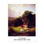 El molino viejo de Albert Bierstadt Tarjeta Postal