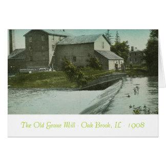 El molino viejo, el molino viejo Oak Brook, IL de  Tarjetón