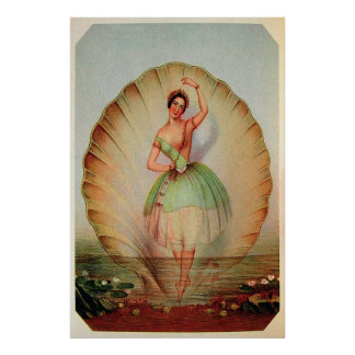 El momento mágico 1843 de la bailarina del ~ de la poster