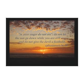 el momento pasado de la puesta del sol con el 4:26 impresiones de lienzo