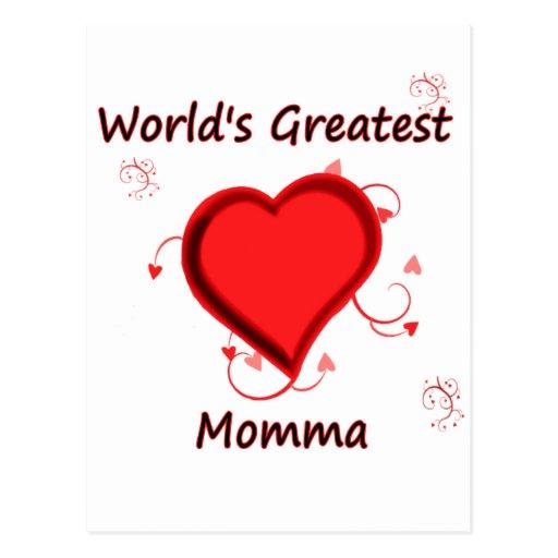 El momma más grande del mundo postales