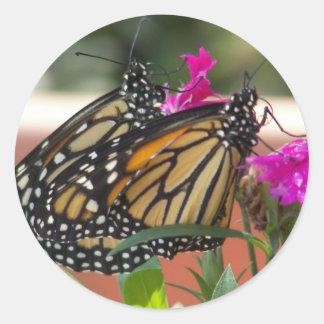 El monarca hermana #1-stickers pegatina redonda