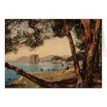 El monasterio de St Honorat, Cannes, Francia Tarjeton