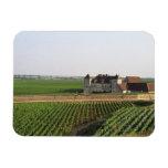El monasterio del siglo XVI de Clos de Vougeot y Imanes Rectangulares