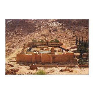 El monasterio Sinaí Egipto de Catherine antigua de Impresion En Lona