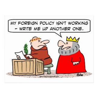el monje del rey de la política exterior escribe postales