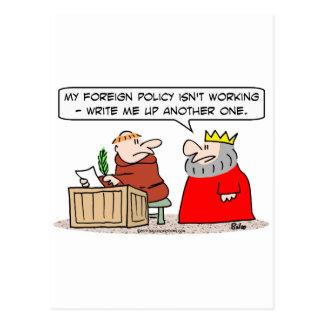 el monje del rey de la política exterior escribe tarjetas postales