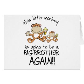 el monkeying alrededor otra vez felicitacion