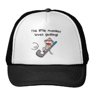 El mono ama el Golfing Gorro De Camionero