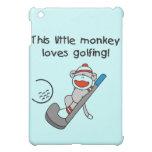 El mono ama el Golfing y los regalos