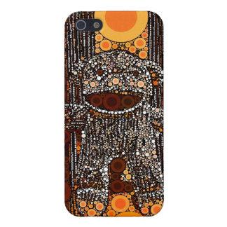El mono anaranjado enrrollado del calcetín iPhone 5 funda