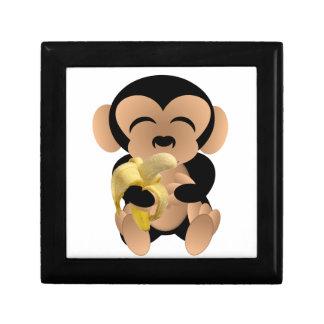 El mono con un plátano cajas de joyas