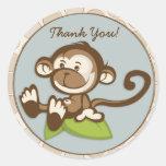 El mono de Lil le agradece pegatina/etiqueta