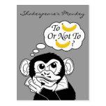 El mono de Shakespeare Tarjetas Postales