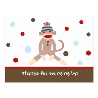 El mono del calcetín agradece sus postales de la t