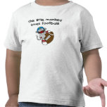 El mono del calcetín ama fútbol camisetas
