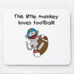 El mono del calcetín ama fútbol tapete de ratón