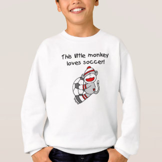 El mono del calcetín ama las camisetas y los