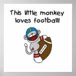 El mono del calcetín ama las camisetas y los regal impresiones