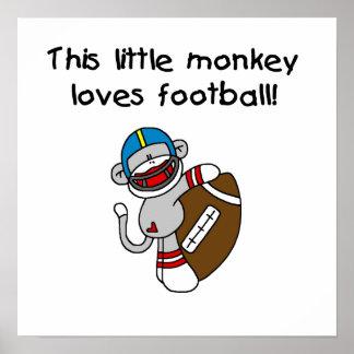 El mono del calcetín ama las camisetas y los regal póster