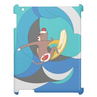 El mono del calcetín fue a practicar surf plátanos