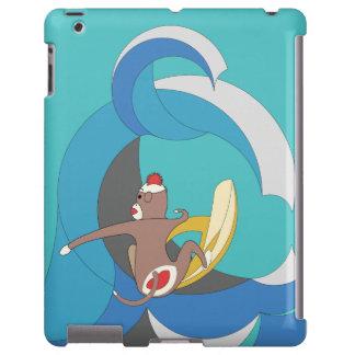 El mono del calcetín fue a practicar surf plátanos funda para iPad